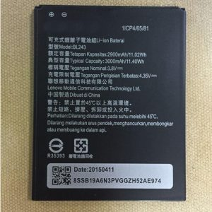 Original Lenovo A7000 Plus Battery Replacement Bl243 2900mAh