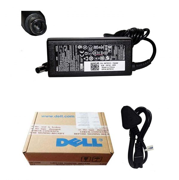 Dell Vostro Charger Power Cable & Dell Genuine Original Laptop Adapter 65w 19.5V 3.34A 1014, 1015, 1200, 1210